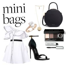 """Mini bags"" by elleenps on Polyvore featuring moda, self-portrait, Mansur Gavriel, Saks Fifth Avenue, Givenchy e Bobbi Brown Cosmetics"