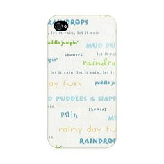 Gray Words iPhone 4/4S Case