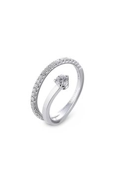 Marry Me 18kt White Gold Ring with Diamonds detail