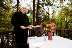 Lake Rabun Hotel - Lakemont Chef Jamie Allred prepares farm-to-table meals each day in the LRH restaurant.