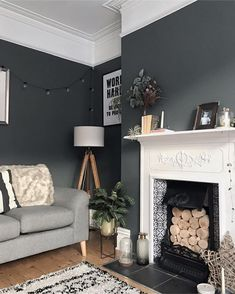 Thought I would try something a bit different with tonight's post and show you a of my living room. Cosy Living Room Small, Alcove Ideas Living Room, Narrow Living Room, Living Room Update, Living Room With Fireplace, Living Room Grey, Living Room Interior, Home Living Room, Living Room Designs