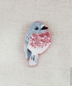 Embroidered sequin sweet little bird