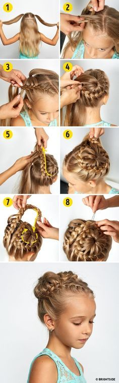 Four hairstyles to make your princess the most beautiful girl…