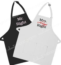"HIS AND HERS SET IDEA - ""MR RIGHT"", ""MRS ALWAYS RIGHT"" (it would be cute to do these Academy-style, somehow incorporating camo or hunting theme?)"