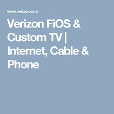 verizon fios cable internet