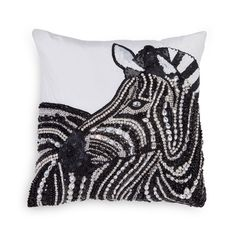Be Jewelled Zebra Wild Creatures, Silk Taffeta, Decorative Cushions, Throw Pillows, Jewels, Crystals, Safari, Stones, Handsome