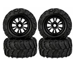 Free Shipping 4pcs 1/8 Monster truck wheels tire tyre fit for 1/8 RC Car model Traxxas HSP Tamiya HPI Kyosho RC Car Truck #Affiliate