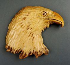 Eagle carved on wood (profile)