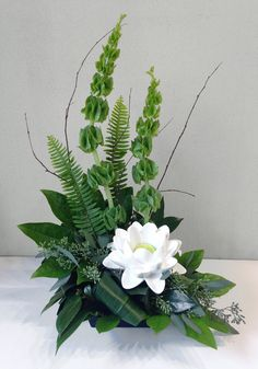how to staple foliage designs in floral arrangements