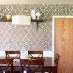 How to Make Removable Wall Paper  Cotton Duck Cloth+stencil+liquid starch.
