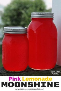 DIY Homemade Pink Lemonade Flavored Moonshine Recipe featuring Everclear plus a Pink Lemonade Moonshine Cocktail. Perfect for summer. #miyo http://gigglesgobblesandgulps.com/pink-lemonade-moonshine-cocktail/