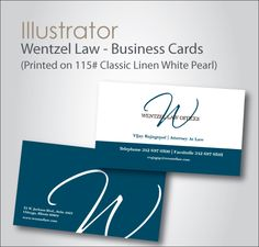 Wetzel Law Offices business card design by My Menuista!