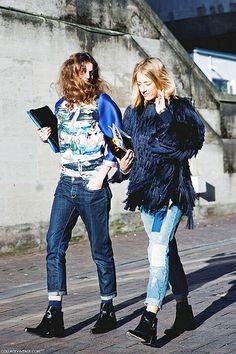 London_Fashion_Week-Street_Style-Fall_Winter_14-Friends-Shades_Blue- by collagevintageblog, via Flickr