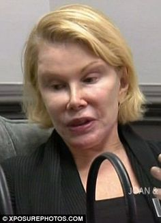Joan Rivers 2011. And she has the audacity to criticize Adele on how she looks smdh