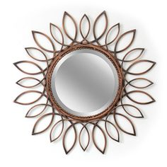 Sunflower Bronze Large Wall Mirror (8607)