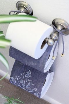 2roll toilet paper holder modern Jacobean hand by vijako on Etsy. I need one of these or something like it.