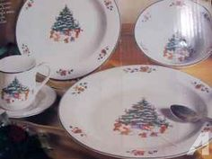 WHIMSICAL CHIRSTMAS CHINA COMPLETE SET OF DISHES - $80 (OWEGO)