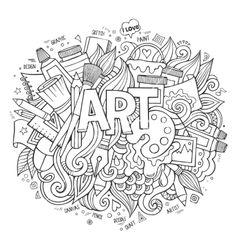 Doodle art coloring pages doodle coloring pages dining doodles Coloring Book Pages, Printable Coloring Pages, Coloring Pages For Kids, Coloring Sheets, Doodle Coloring, Free Coloring, Zentangle, Free Doodles, Doodle Pages