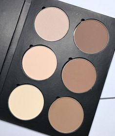Beauty Junkees has created the perfect neutral/cool toned contour and highlight palette for fair-medium skin tones. Doubles as eyeshadow and brow colors. Makeup List, Diy Makeup, Makeup Items, Makeup Products, Beauty Products, Beauty Make Up, Diy Beauty, Beauty Full, Beauty Skin