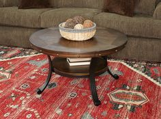 Round Wood Coffee Table, Cool Coffee Tables, Transitional Coffee Tables, Nebraska Furniture Mart, Cocktail Tables, Rustic Design, Online Furniture, Wood And Metal, Decoration