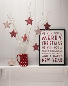 red and white christmas - love the sign Nordic Christmas, Noel Christmas, Little Christmas, Country Christmas, All Things Christmas, Winter Christmas, Christmas Crafts, Christmas Lyrics, Christmas Print