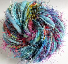 A crazy handspun textured merino novelty yarn by thefibretree, £9.99