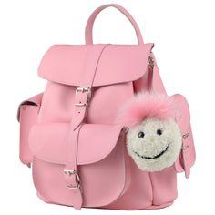 色: ピンクSmiley バッグチャーム (取り外し可能)100% 天然皮革調整可能なショルダーストラップ正面にポケット付き両サイドにポケット付きイギリス製