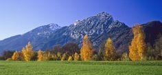 Kirchholz in Bad Reichenhall im Herbst - wunderschöne Lichtstimmung.