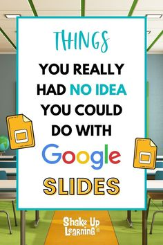 I talk about the wonders of Google Slides CONSTANTLY and frequently refer to it as the Swiss Army Knife of G Suite. It can do all kinds of things! In this post, I will show you 25 Things You Didn't Know Google Slides Could Do. Teaching Tips, Learning Resources, Teacher Resources, Google Classroom, Classroom Ideas, Curriculum Design, Virtual Class, Writing Lessons, Project Based Learning