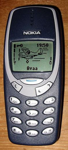 Een van mijn eerste gsm's