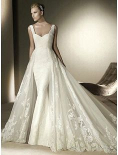 Image from http://www.goodcheapweddingdress.com/1093-3722-large/lace-sweetheart-neckline-mermaid-wedding-dress-with-tulle-chapel-train.jpg.