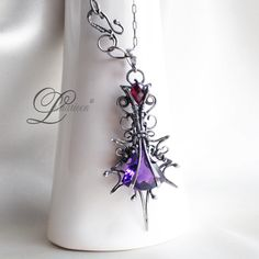 handmade: necklaces technique: wire-wrapping materials: silver, amethyst My facebook page and more pictures :