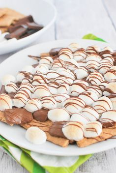 S'Mores Nachos! There's nothing better than a plate of s'mores!