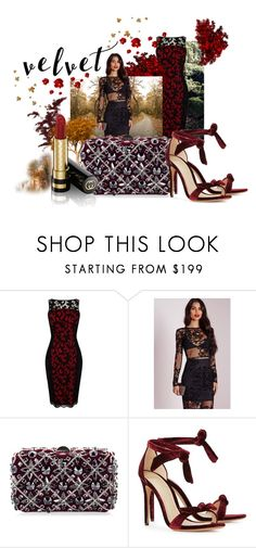 """""""velvet"""" by peace-100 ❤ liked on Polyvore featuring Etro, Karen Millen, Rodo, Alexandre Birman and Gucci"""