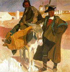 Types of La Mancha - Joaquín Sorolla