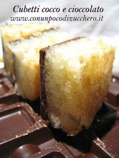 Cubetti cocco e cioccolato | ConUnPocoDiZucchero.it