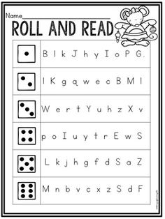 Grab this Christmas themed no prep printable for free. Your students will love practicing letter naming fluency with this fun roll and read!Have a fabulous holiday! Fluency Activities, Alphabet Activities, Letter Identification Activities, Letter Sound Activities, Reading Activities, Kindergarten Morning Work, Kindergarten Activities, Letter Sound Games, Reading Fluency