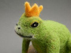 Froschkönig  von Filzherz auf DaWanda.com
