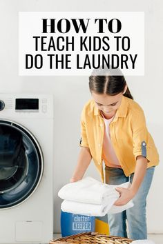 Manage your family's laundry by teaching your children how to do it. Learn everything you need to know about laundry and kids in this easy beginner guide. Sorting Clothes, Laundry Sorting, Playroom Organization, Organization Hacks, Organizing Ideas, Wash And Fold, How To Fold Towels, How To Teach Kids, Messy Room