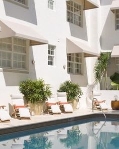 The Betsy Hotel South Beach  ( Miami Beach, Florida )  The small but stylish courtyard pool is fringed by tropical foliage. #Jetsetter