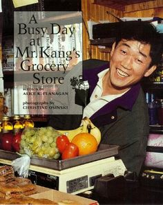 A Busy Day at Mr Kangs Grocery Store Our Neighborhood Childrens Press Hardcover -- AMAZON Great Sale