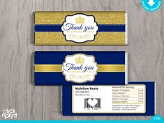 Prince Baby Shower Royal Blue Gold Glitter by clicknprintdesigns