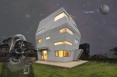 The Force is Strong With This Sandcrawler-Inspired Star Wars House in South Korea