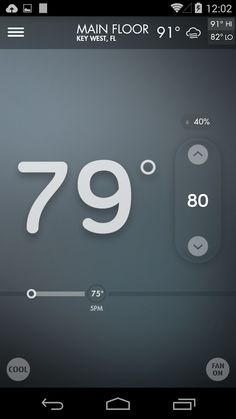 App Design Inspiration, Heating And Cooling, Smartphone, App Ui, Cool Stuff, Meet, Simple, Cool Things