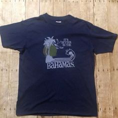 9d4fe1a7c36 Vintage 80s Better in The Bahamas Tee 50 50 Thin Size XL