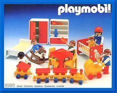 Vintage Playmobil Children's Playroom Set 3290