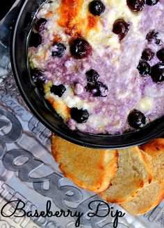 This savory white cheddar Baseberry Dip will disappear quick, no matter which team you're cheering for this weekend!