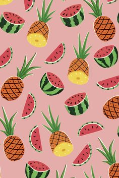 These awesome fruits feature on a super tropical wrapping paper design by Ruby…