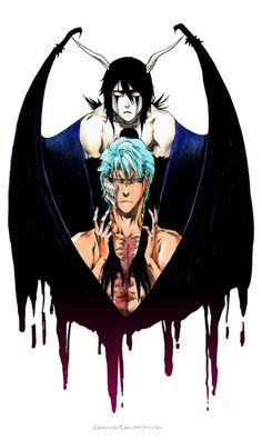 Bleach - Ulquiorra Cifer x Grimmjow Jaegerjaquez - GrimmUlqui Bleach Fanart, Bleach Anime, Anime Guys, Manga Anime, Bleach Tattoo, Kenpachi Zaraki, Bleach Couples, Bleach Characters, Another Anime