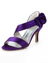 Purple Bow Open Toe Silk And Satin Grace Woman's Evening Shoes. Get marvelous discounts up to 70% Off at Milanoo using Coupon & Promo Codes.
